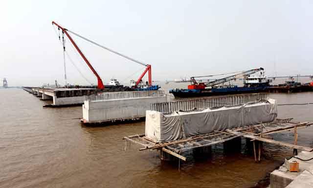 常熟电厂码头加固改造