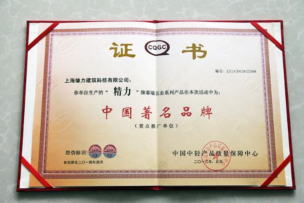 精力 中国著名品牌